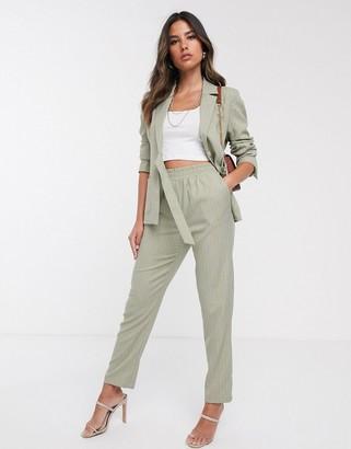 UNIQUE21 pinstripe pants-Green