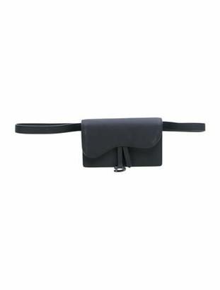 Christian Dior 2019 Ultramatte Saddle Belt Bag Black