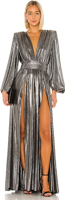 Bronx and Banco Zoe Silver Gown