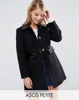 Asos Skater Coat with Contrast Trims