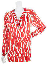 As Is Status by Star Jones Printed Tunic with Embellishment