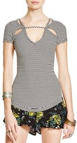 Free People Frenchie Striped Cutout Top