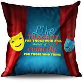 Life Tragedy Quote Slogan Mask Living Linen Cushion / Throw Pillow | Wellcoda