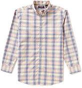 Roundtree & Yorke Trademark Big & Tall Long-Sleeve Multi Gingham Buttondown Sportshirt