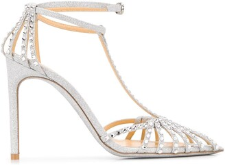 Giannico Eve 110mm glitter sandals