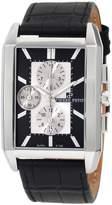 Pierre Petit Men's P-780A Serie Paris Rectangular Case Black Leather Chronograph Watch