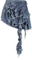 Marques Almeida Marques' Almeida Ruffled denim mini skirt