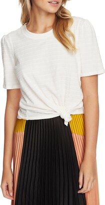 1 STATE Textured Puff Sleeve Top