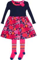 Le Top Kaleidoscope Corduroy Dress & Tights