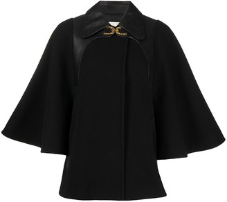 Gucci horseshoe detail short cape