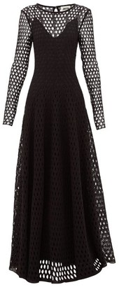 Maison Rabih Kayrouz Open-knit Crochet-lace Gown - Black
