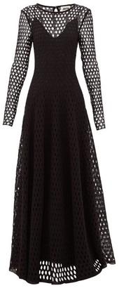 Maison Rabih Kayrouz Open-knit Crochet-lace Gown - Womens - Black
