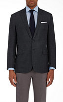 Ralph Lauren Purple Label Men's Houndstooth Flannel Two-Button Sportcoat-GREY