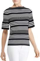 Lauren Ralph Lauren Bell Sleeve Stripe Top