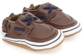 Robeez 'Connor' Loafer Crib Shoe (Baby & Walker)