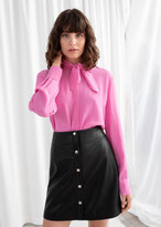 And other stories Satin Pussy Bow Blouse