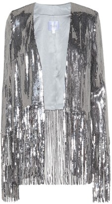 Galvan Stardust sequined fringe jacket
