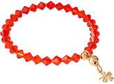 Anouska London Jewelry Swarovski Crystal Bracelet With Gold Plated Clover Charm