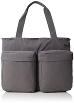 Wood Wood Unisex-Adult Zachary Canvas and Beach Tote Bag Grey