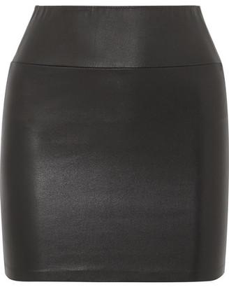 Sprwmn Leather Mini Skirt - Black