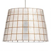 World Market Gold Capiz Tapered Table Lamp Shade