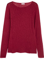 Splendid Modal And Cotton-blend Slub Jersey Top - Plum