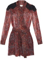 Zimmermann Empire filigree-print silk-chiffon playsuit