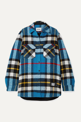 we11done Checked Wool Jacket - Blue