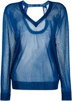 Christian Wijnants sheer v-neck sweater