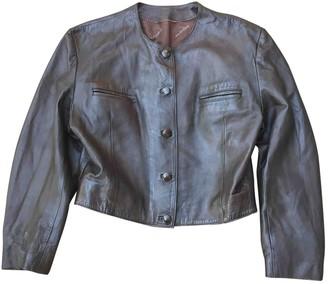 Saint Laurent Brown Leather Leather Jacket for Women Vintage