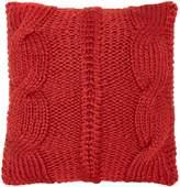 Linea Chunky Knit Cushion, Red