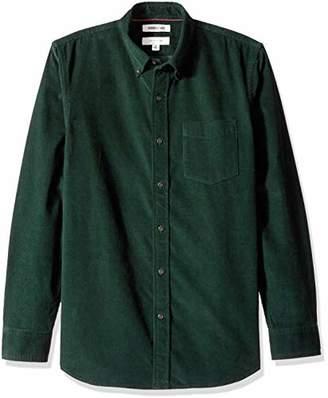 Goodthreads Men's Slim-fit Long-sleeve Corduroy Casual Shirt, Blue ( Nav), X-Small