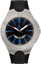 Croton Mens Black and Blue Stainless Steel Watch