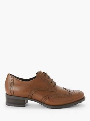 John Lewis & Partners Fenton Leather Block Heeled Brogues
