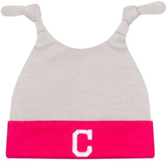 New Era Newborn Gray/Pink Cleveland Indians Shadow Tot Dub Cuffed Knit Hat