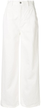 Le Ciel Bleu Wide Leg Denim Trousers