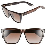 Givenchy Women's 58Mm Flat Top Sunglasses - Black/ Grey
