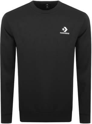 Converse Star Chevron Logo Sweatshirt Black