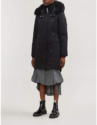 Moose Knuckles Stirling faux fur-trimmed cotton-blend twill-down coat
