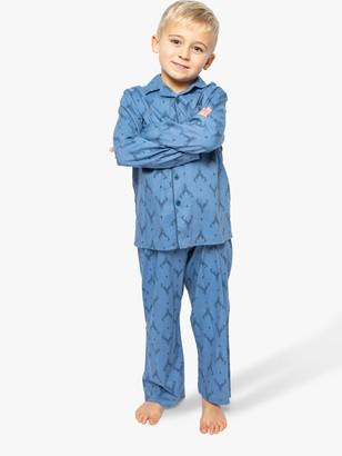 Cyberjammies Boys' Stag Print Pyjamas, Blue