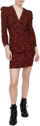 Maje Rapita Floral-Print Mini Dress