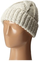 San Diego Hat Company KNH3374 Cable Knit Beanie with Metallic Yarn