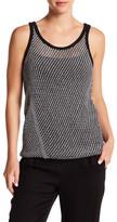 DKNY Sleeveless Mesh Stitch Pullover Tank (Regular & Petite)