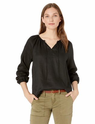 NYDJ Women's Linen Peasant Blouse