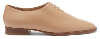 Gabriela Hearst Collins Leather Derby Shoes - Beige