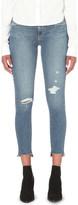 Paige Skyline Ankle Peg distressed skinny mid-rise jeans