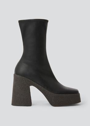 Stella McCartney Square-Toe Platform Booties