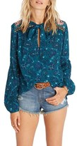 Billabong Birds on High Print Tie Neck Blouse
