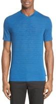 Armani Collezioni Men's Stripe V-Neck T-Shirt