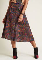 PepaLoves Rally for Retro A-Line Midi Skirt in L - A-line Skirt by from ModCloth